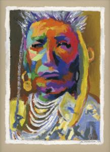 Special Pricing On New Oil Pastel Proud Native American